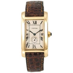 Cartier Tank Americaine 811904, Beige Dial, Certified and Warranty