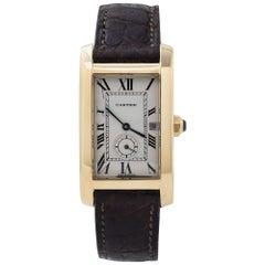 Cartier Tank Americaine 811905 18 Karat Yellow Gold Women's Quartz Watch