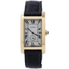 Cartier Tank Americaine  811905, Beige Dial, Certified and Warranty