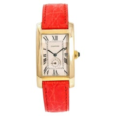 Cartier Tank Americaine  811905, Black Dial, Certified and Warranty
