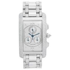 Cartier Tank Americaine Chronograph Men's/Ladies 18 Karat Gold Diamond Watch