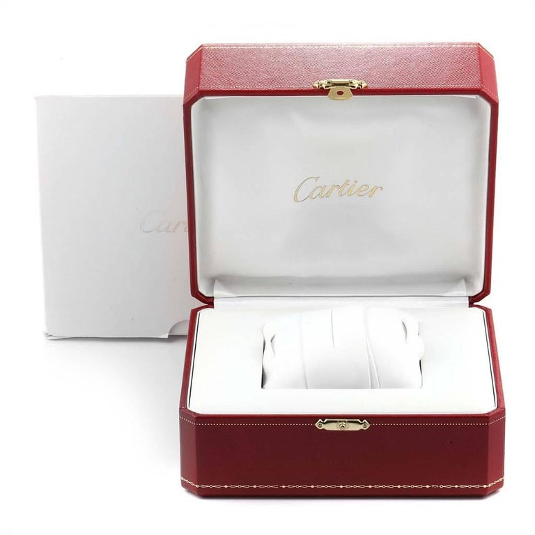 Cartier Tank Americaine Chronograph White Gold Men's Watch W2603358 For Sale 5