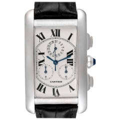 Cartier Tank Americaine Chronograph White Gold Men's Watch W2603358