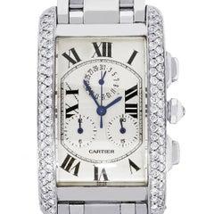 Cartier Tank Americaine Diamond Bezel Gents Watch