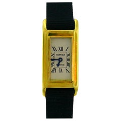 Cartier Tank Américaine Gold Ladies Wristwatch