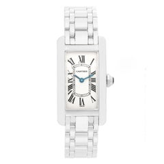 Cartier Tank Americaine Ladies White Gold W26019L1