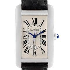 Cartier Tank Americaine Large 18 Karat White Gold Watch W2603256