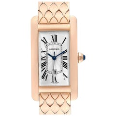 Cartier Tank Americaine Midsize 18 Karat Rose Gold Ladies Watch W2620032
