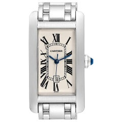 Cartier Tank Americaine Midsize Yellow Gold Automatic Ladies Watch 1726