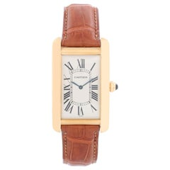 Cartier Tank Americaine 'or American' Large Men's Gold Watch 1735