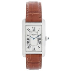 Cartier Tank Americaine 'or American' Large Men's Platinum Watch Ref 1734