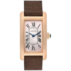 Cartier Tank Americaine Rose Gold Small Ladies Watch 2503