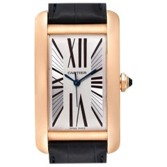 Cartier Tank Americaine Silver Dial Rose Gold Automatic Men's Watch 2505