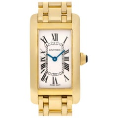 Cartier Tank Americaine W26015K2, White Dial, Certified