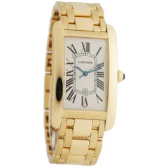 Cartier Tank Americaine W26031K2, Brown Dial