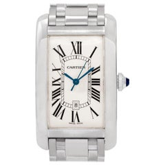 Cartier Tank Americaine W2605511, White Dial, Certified &