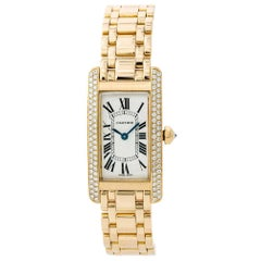 Cartier Tank Americaine WB7043JQ; Black Dial, Certified