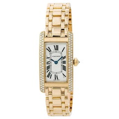 Cartier Tank Americaine WB7043JQ, Silver Dial, Certified and