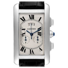 Cartier Tank Americaine White Gold Chronograph Men's Watch 2569