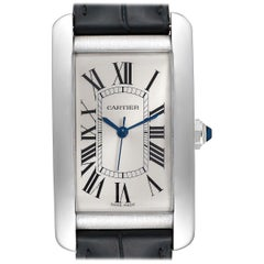 Cartier Tank Americaine Stainless Steel Large Men's Watch WSTA0018 Box Papers