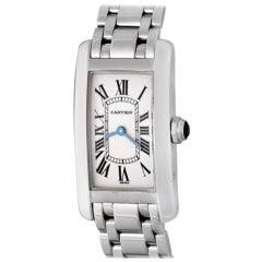 Cartier Tank Americaine White Gold Model W26019L1 Watch