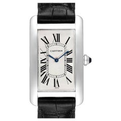 Cartier Tank Americaine XL Platinum Mechanical Men's Watch W2604351