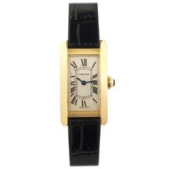 Cartier Tank American Ladies Yellow Gold Quartz Wristwatch