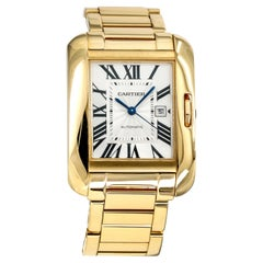 Cartier Tank Anglaise 18 Karat Yellow Gold Women's Automatic Watch W5310015