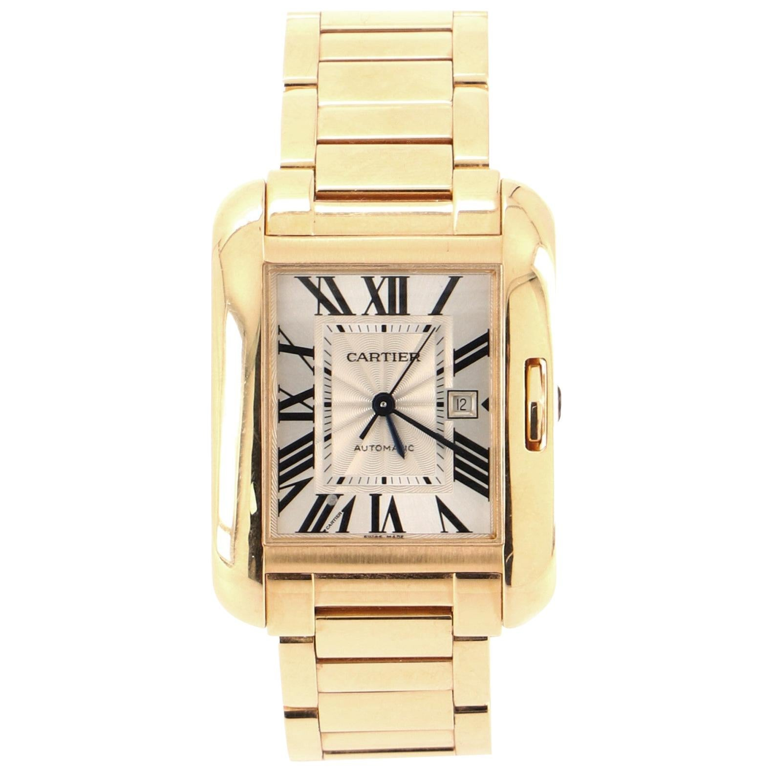 Cartier Tank Anglaise Automatic Watch Rose Gold 30