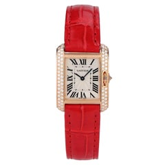 Cartier Tank Anglaise Small Pink Gold Diamond Watch WT100013