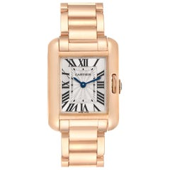 Cartier Tank Anglaise Small Silver Dial Rose Gold Ladies Watch W5310013