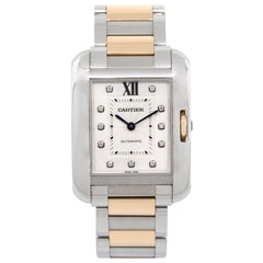 Cartier Tank Anglaise Two-Tone Diamond Dial Ladies Watch