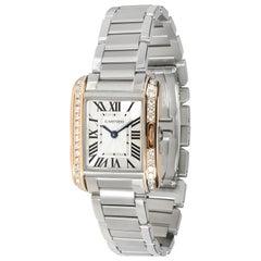 Cartier Tank Anglaise W3TA0002 Women's Watch in 18 Karat Yellow Gold/Steel