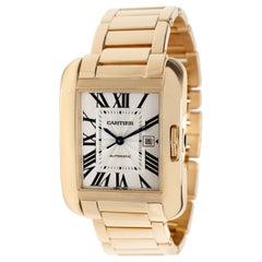 Cartier Tank Anglaise W5310002 Men's Watch in 18 Karat Rose Gold