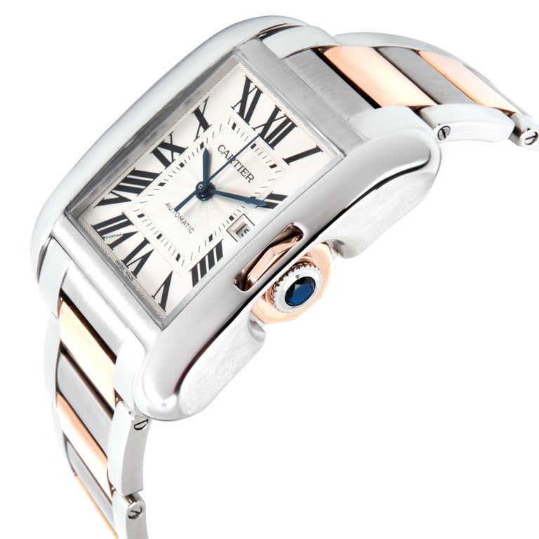 Retail price 9,100 USD. In excellent condition and recently serviced by a certified watchmaker. All components are factory original. Photos of actual watch. Cartier Calibre 049 Base ETA 2892-A2  21 Jewels.   Cartier Tank Anglaise W5310007 Men's