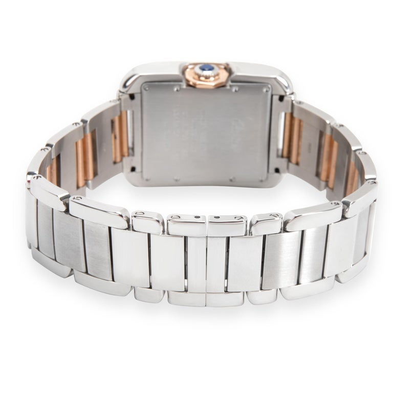 Cartier Tank Anglaise W5310007 Men's Watch in 18 Karat Stainless Steel/Rose Gold 1