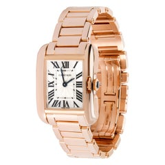 Cartier Tank Anglaise W5310013 Women's Watch in 18 Karat Rose Gold