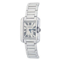 Cartier Tank Anglaise W5310023, Silver Dial, Certified and Warranty