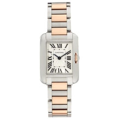 Cartier Tank Anglaise W5310036; White Dial, Certified and Warranty