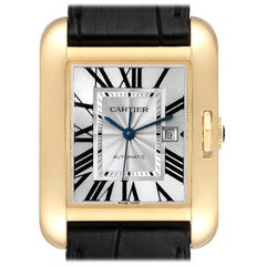 Cartier Tank Anglaise Yellow Gold Ladies Watch W5310030 Box Papers