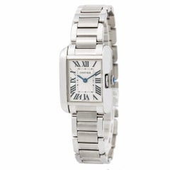 Cartier Tank Anglaise 3840, White Dial Certified Authentic