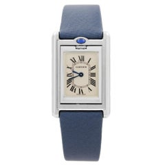 Cartier Tank Basculante Steel Reversible Case Cream Dial Ladies Watch W1011158