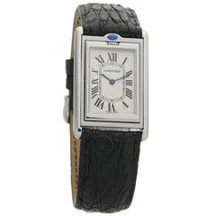 Cartier Tank Basculante W1011358, Brown Dial