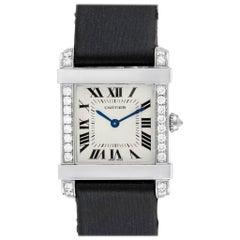 Cartier Tank Chinoise Platinum Diamond Ladies Watch 2755