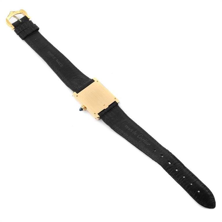 Cartier Tank Classic Paris Yellow Gold Ultra-Thin Mechanical Men's Watch For Sale 6