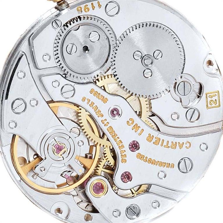 Cartier Tank Classic Paris Yellow Gold Ultra-Thin Mechanical Men's Watch For Sale 3