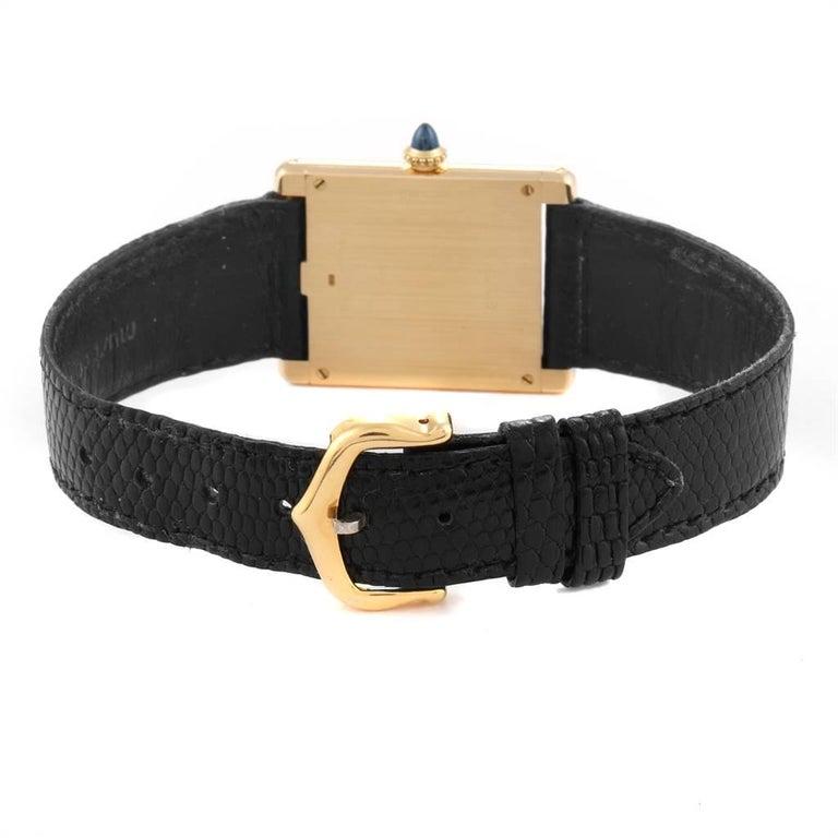 Cartier Tank Classic Paris Yellow Gold Ultra-Thin Mechanical Men's Watch For Sale 4