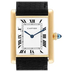 Cartier Tank Classic Paris Yellow Gold Ultra-Thin Mechanical Men's Watch
