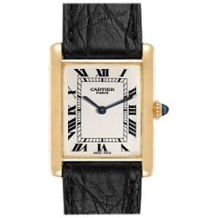 Cartier Tank Classic Paris Yellow Gold Ultra Thin Mechanical Men's Watch