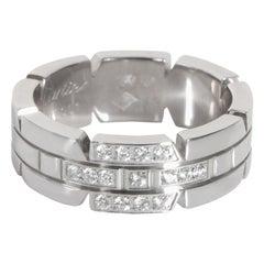 Cartier Tank de Cartier Diamond Band in 18K White Gold 0.15 CTW